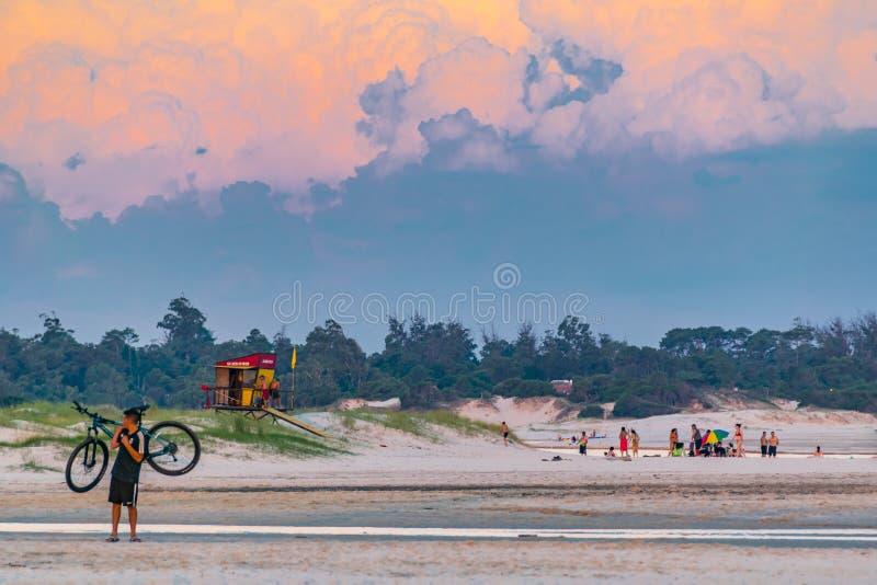 Parque del Plata Praia, Canelones, Uruguai imagem de stock