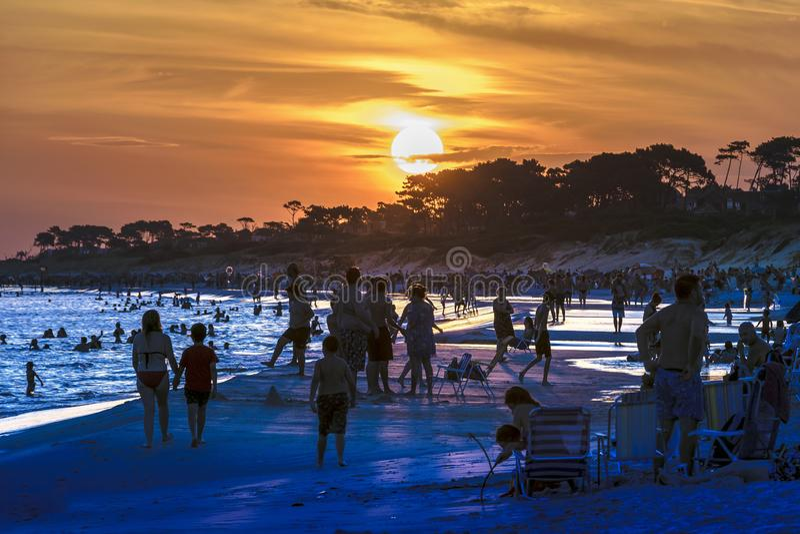 Parque Del Plata Wyrzucać na brzeg, Canelones, Urugwaj zdjęcie stock