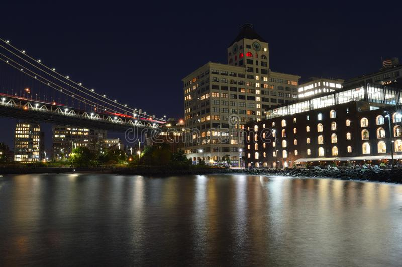 Parque del puente de Brooklyn imagen de archivo libre de regalías
