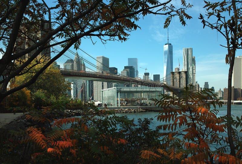 Parque del puente de Brooklyn, Nueva York fotografía de archivo libre de regalías