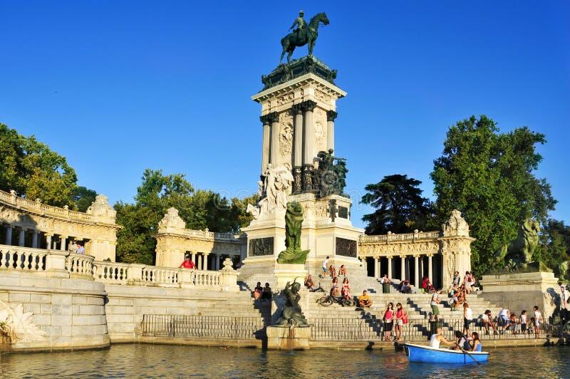 Parque del Retiro in Madrid, Spanje royalty-vrije stock foto