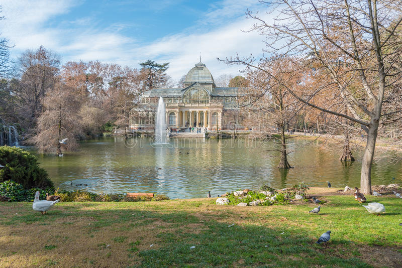Parque del Retiro in Madrid, Spanje stock afbeelding