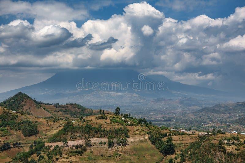 Parque del volcán en Rwanda fotografía de archivo libre de regalías
