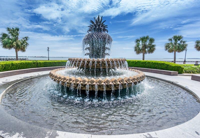 Parque dianteiro da água em Charleston imagem de stock