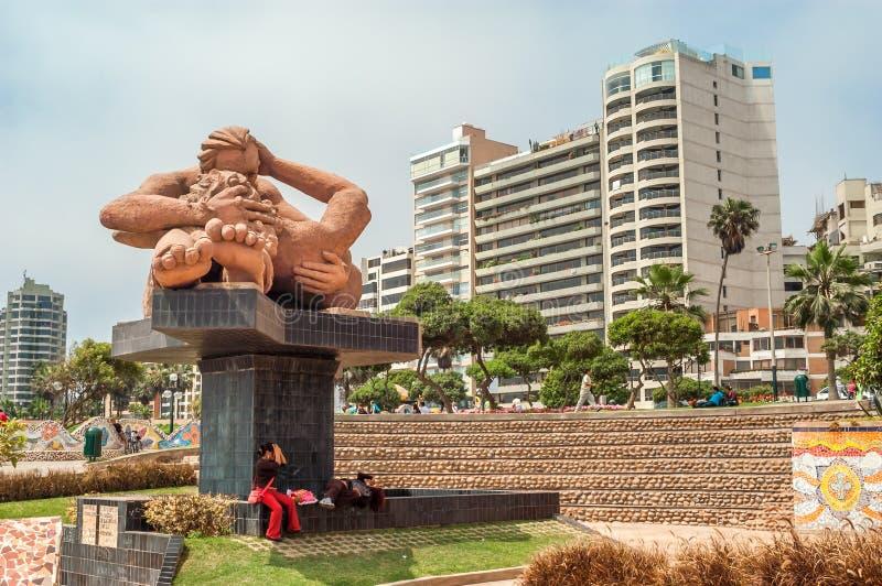 Parque do amor em Lima imagens de stock