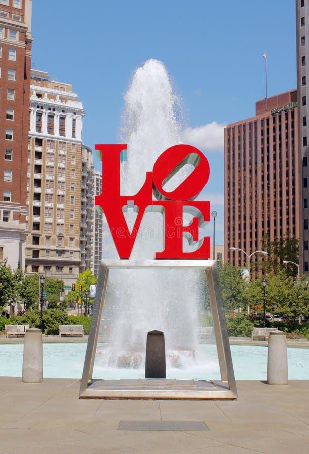 Parque do amor, Philadelphfia foto de stock