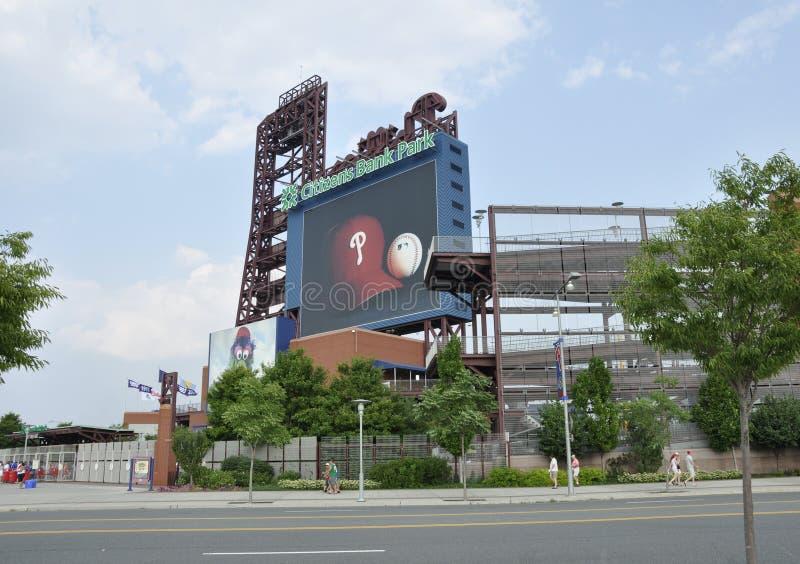 Parque do banco do cidadão em Philadelphfia, PA fotografia de stock royalty free