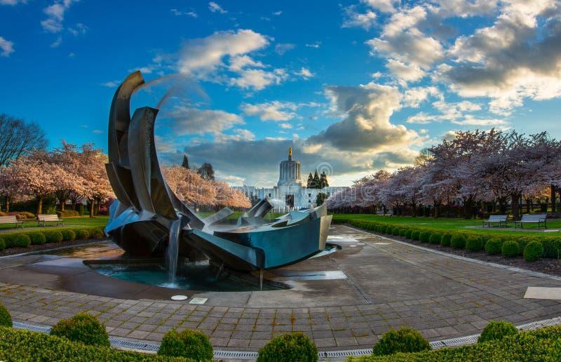 Parque do Capitólio do estado de Oregon foto de stock royalty free