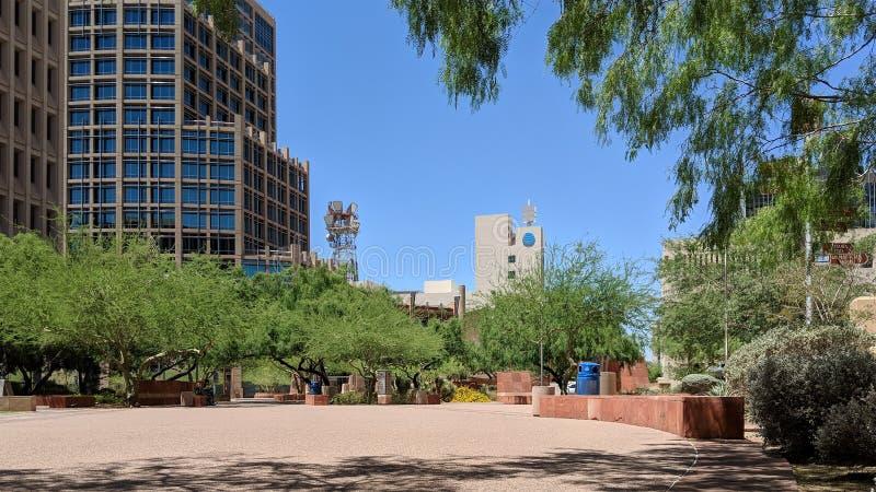 Parque do centro, Phoenix, AZ imagens de stock