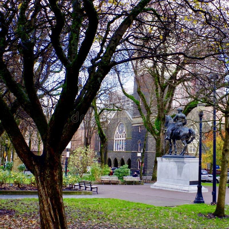 Parque do centro urbano, Portland, Oregon, EUA imagem de stock royalty free