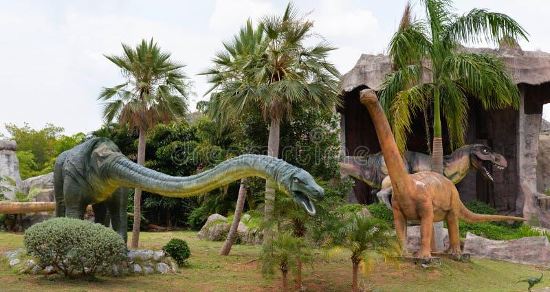 Parque do dinossauro imagem de stock royalty free