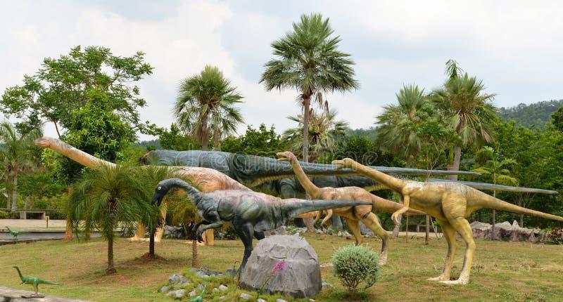 Parque do dinossauro foto de stock