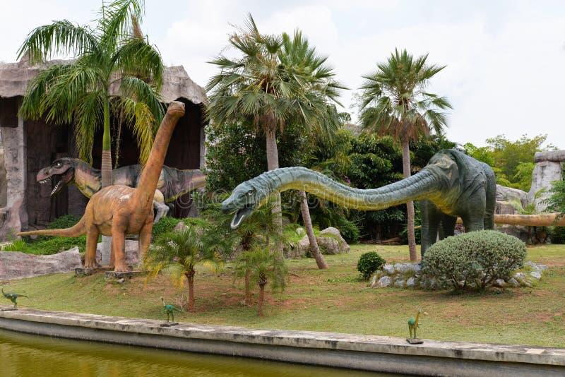Parque do dinossauro fotografia de stock royalty free
