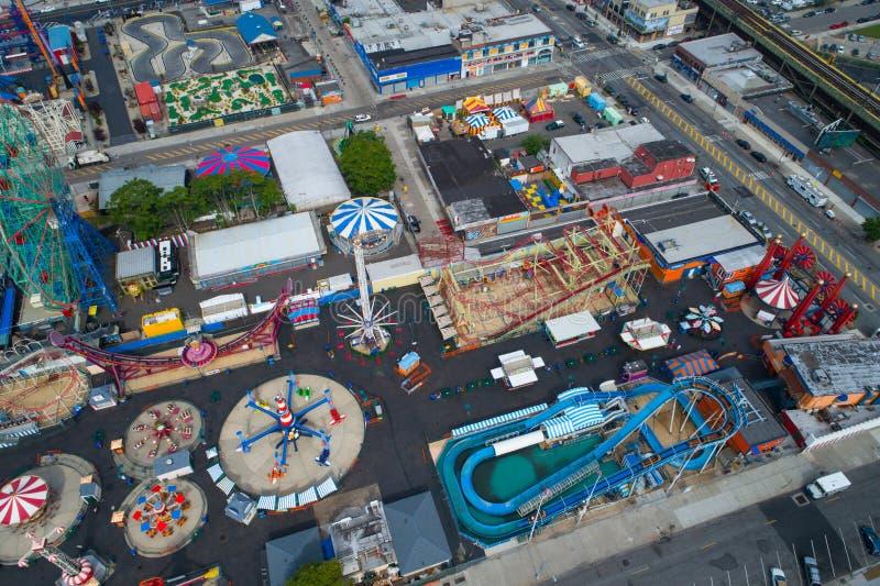 Parque do divertimento de Coney Island imagem de stock