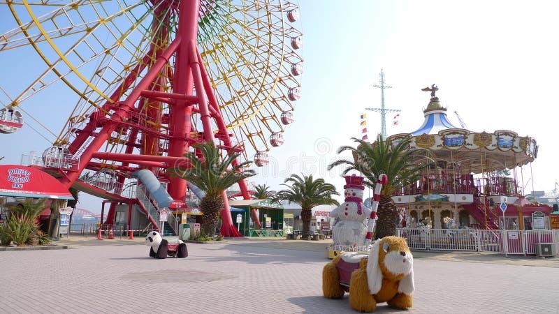 Parque do divertimento no harborland de Kobe, Japão imagens de stock royalty free