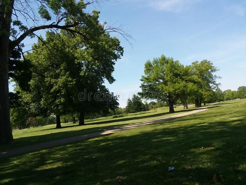 Parque do golfe foto de stock royalty free