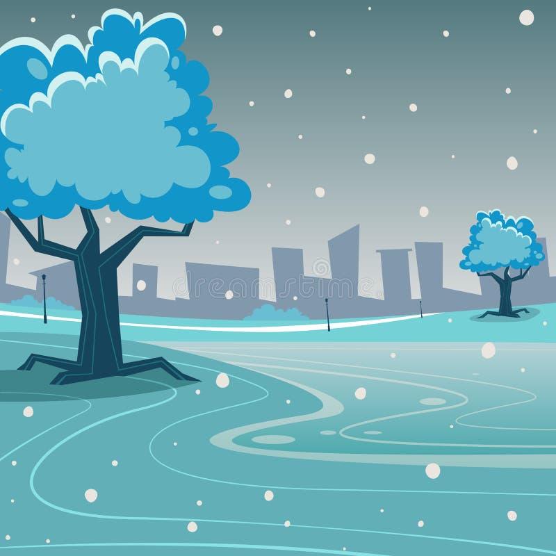 Parque do inverno ilustração stock