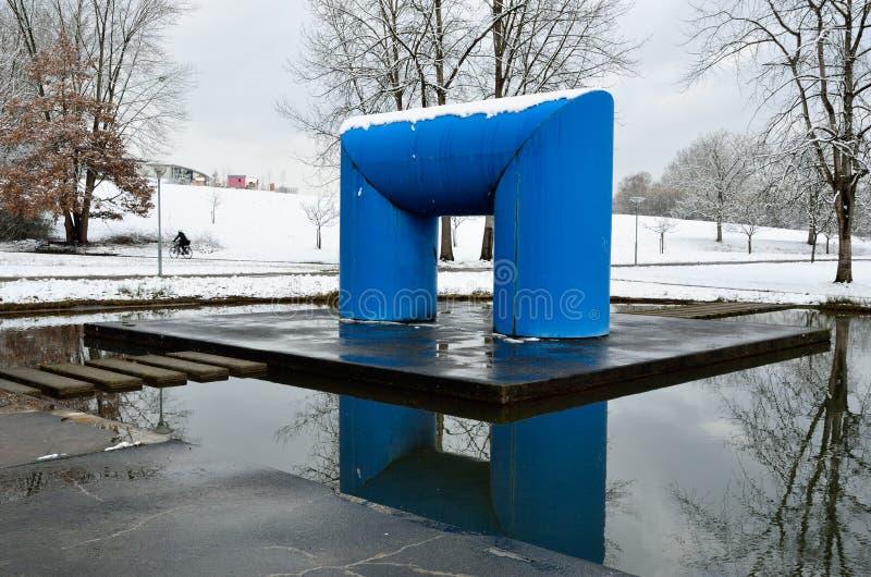 Parque do inverno na cidade Constance de Alemanha imagens de stock royalty free