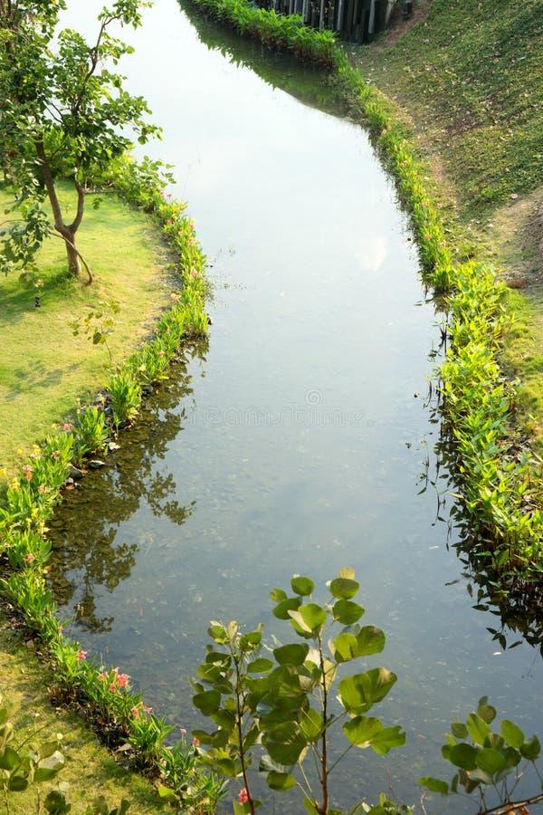 Parque do jardim do ribeiro da maneira da água imagens de stock royalty free