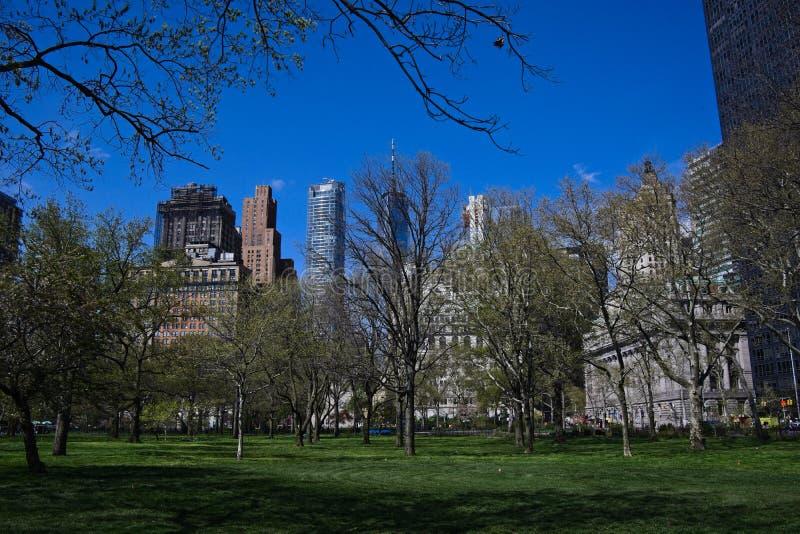 Parque do Lower Manhattan na primavera fotos de stock
