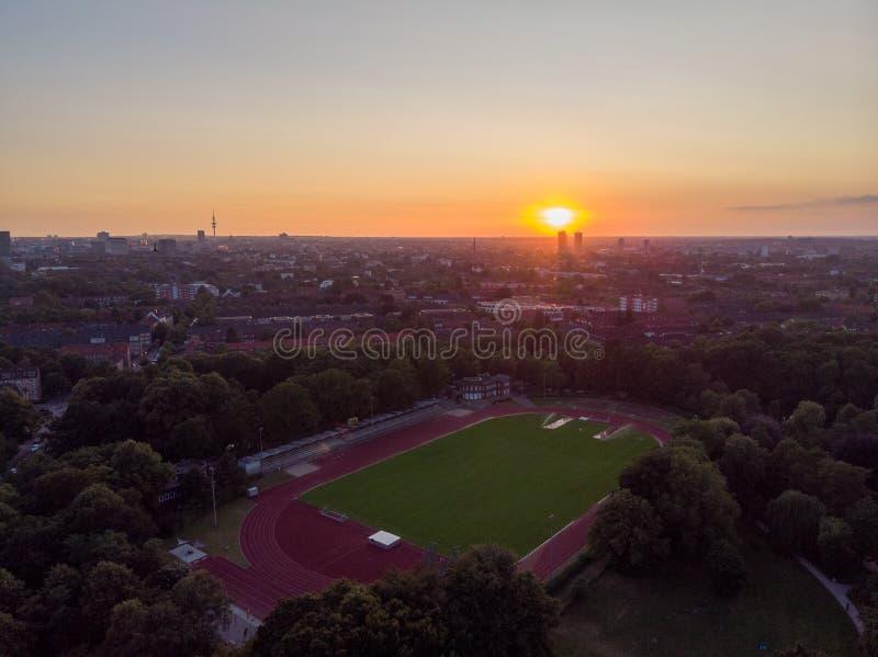 Parque do martelo em Hamburgo imagens de stock royalty free