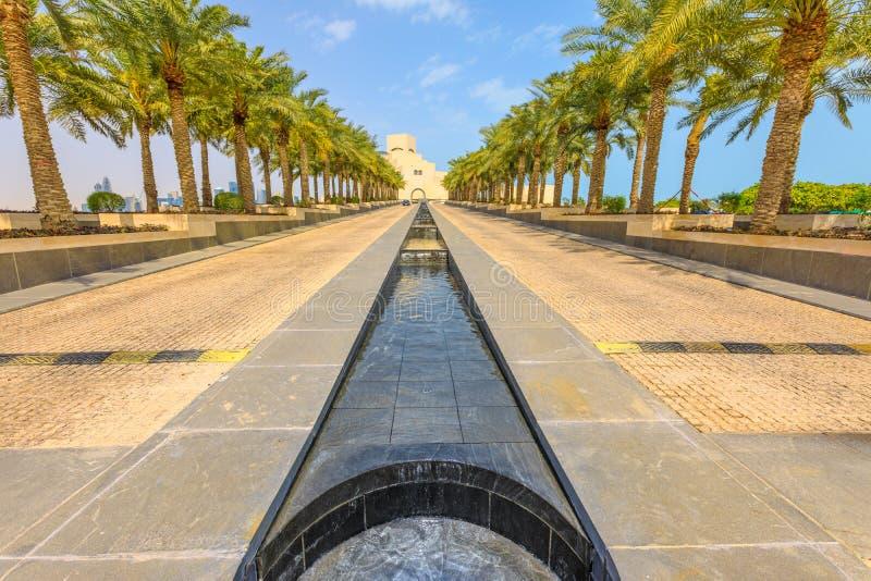 Parque do museu da cidade de Doha fotografia de stock