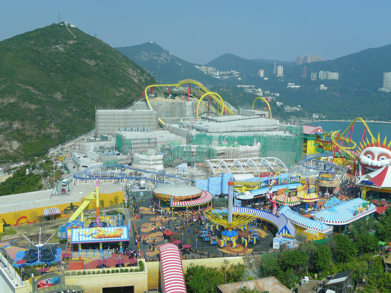 Parque do oceano de Hong Kong fotografia de stock