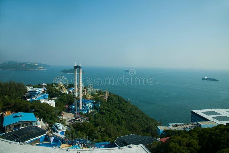 Parque do oceano e negligência do mar do Sul da China na torre do parque do oceano do parque do oceano imagem de stock royalty free