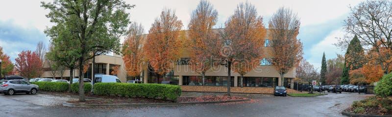 Parque do outono em Portland Beaverton fotografia de stock