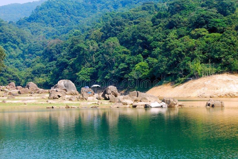 Parque do país de Hong Kong Shing Mun foto de stock royalty free