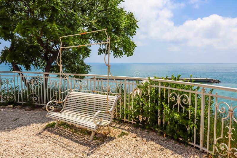 Parque do palácio Euxinograd Varna, Bulg?ria fotografia de stock royalty free