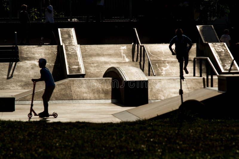 Parque do patim foto de stock
