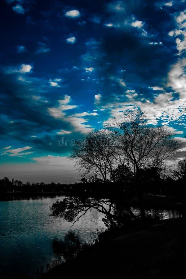 Parque do por do sol imagens de stock royalty free