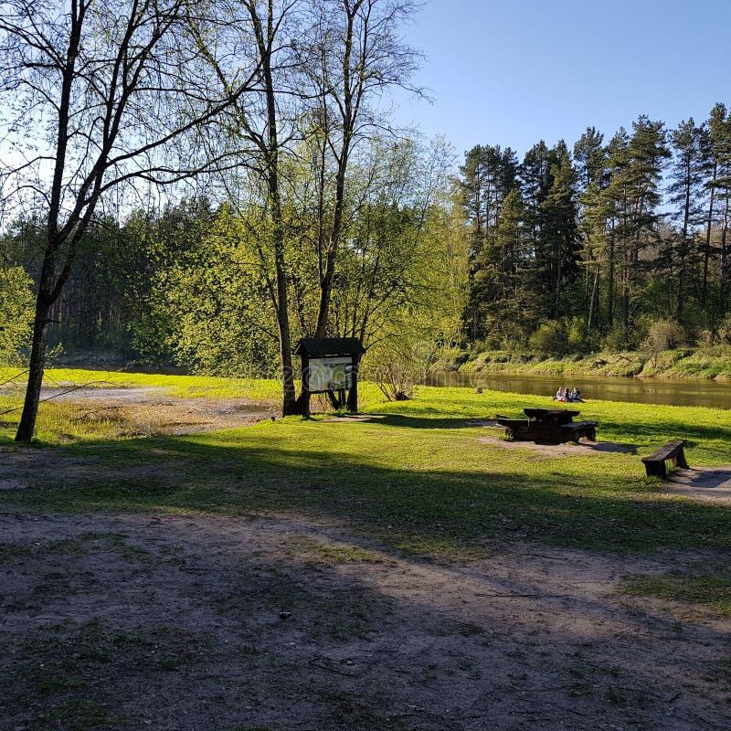 Parque do rio imagens de stock