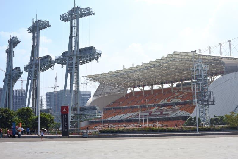 Parque dos Jogos Asiáticos de Haixinsha imagem de stock royalty free