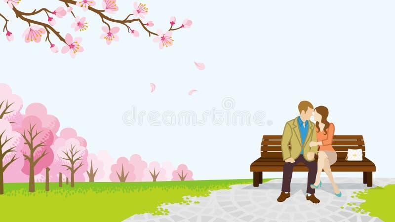 Download Parque Dos Pares Na Primavera - EPS10 Ilustração do Vetor - Ilustração de ilustração, beijar: 65579941
