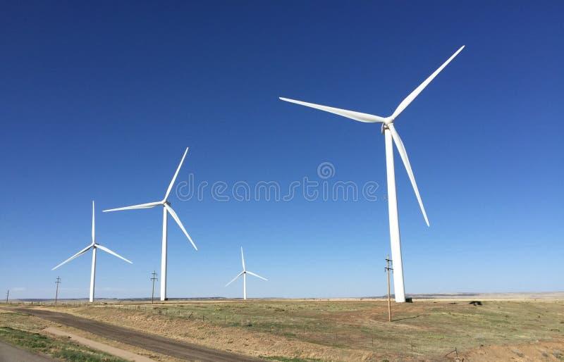 Parque eólico de Colorado fotografía de archivo libre de regalías