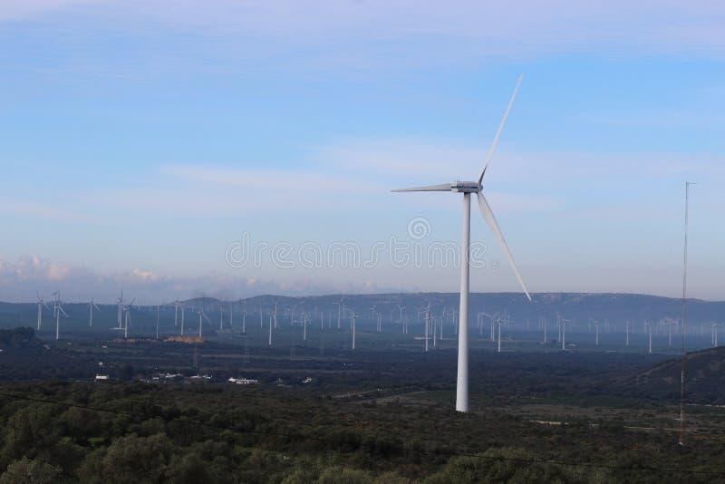 Parque eólico Fascinas, Andalucía, España fotografía de archivo libre de regalías