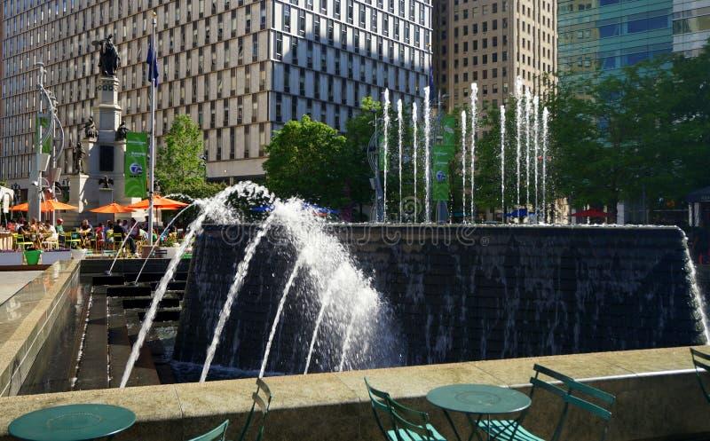 Parque e monumento de Detroit imagem de stock royalty free