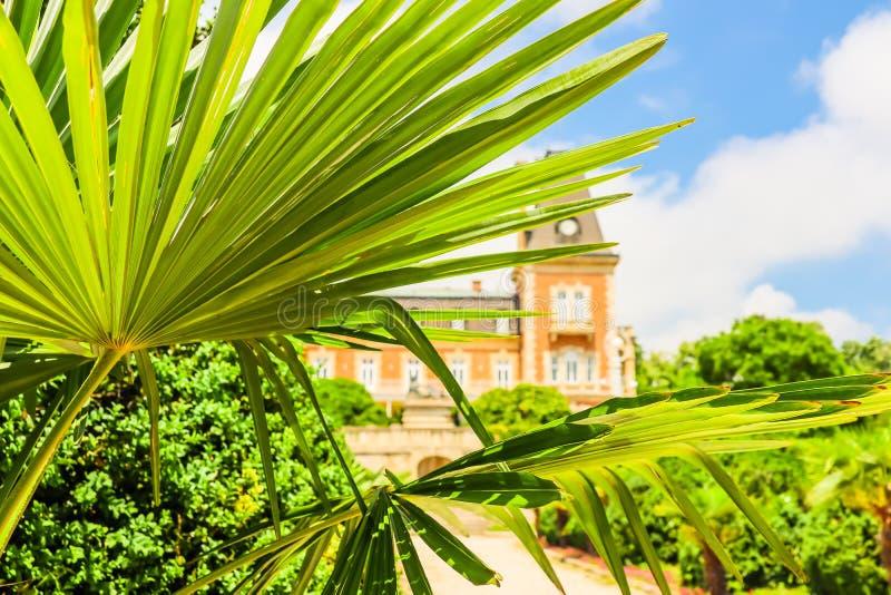 Parque e palácio Euxinograd ou Evksinograd Varna, Bulg?ria foto de stock