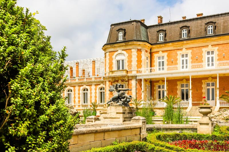 Parque e palácio Evxinograd ou Evksinograd Varna, Bulg?ria imagens de stock