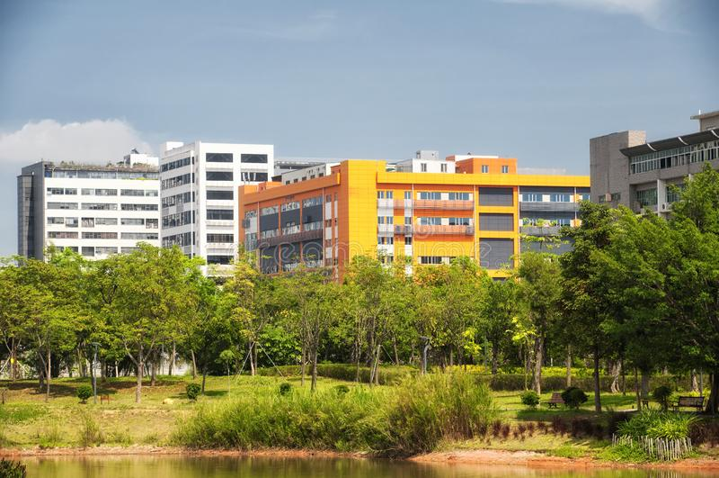 Parque ecológico Shenzhen China dos manguezais de Futian foto de stock royalty free