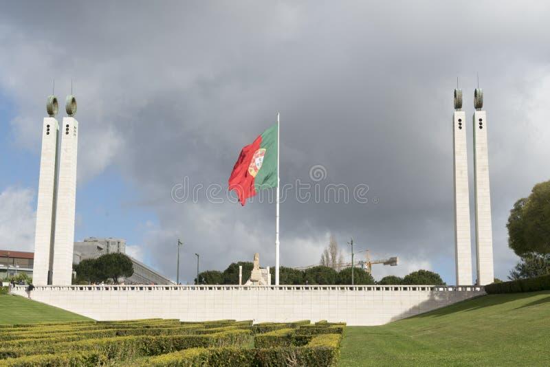 Parque Edoardo VII em Lisboa imagens de stock royalty free