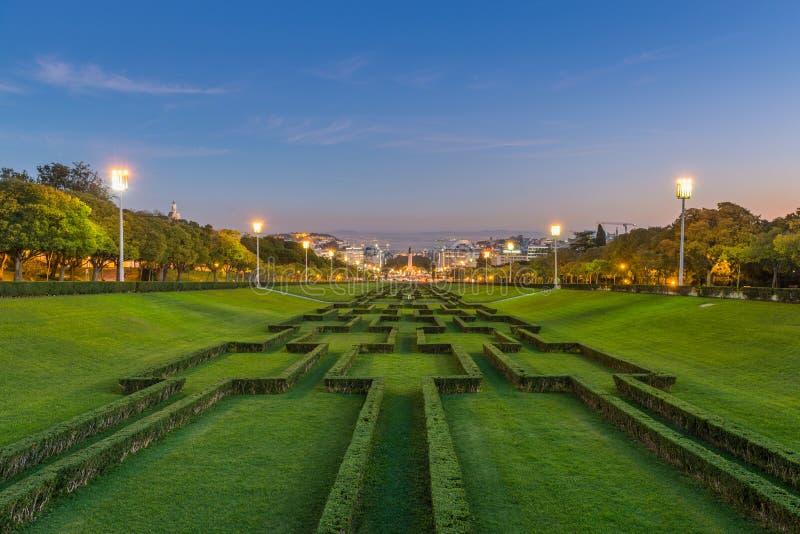 Parque Eduardo VII в Лиссабоне стоковое фото