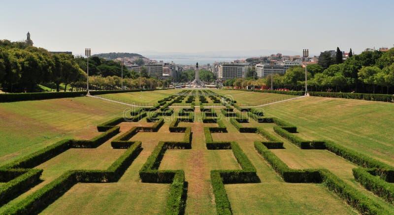 Parque Eduardo VII, Lisbonne photographie stock libre de droits