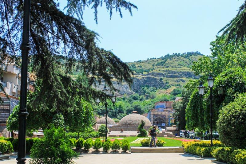 Parque em Abanotubani imagens de stock royalty free