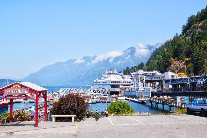 Parque em ferradura cênico da baía em Vancôver, Canadá fotos de stock