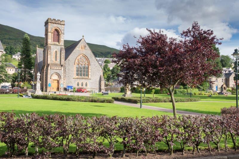 Parque em Fort William, Escócia imagens de stock royalty free