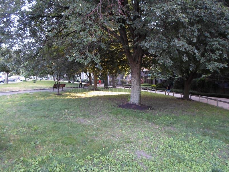 Parque em Kenmore Square, Boston, Massachusetts, EUA imagens de stock