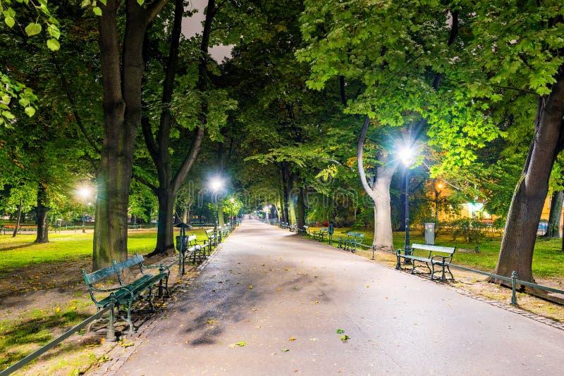 Parque em Krakow central fotografia de stock